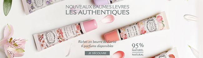 remportez la gamme Baume Lèvres Authentiques de Panier des Sens