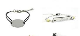 Bracelets gravés gratuits (hors fdp) pour enfants ou adultes