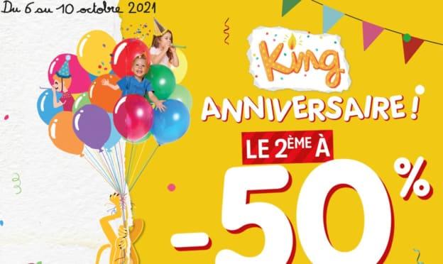 Bon plan King Jouet : 50% de réduction sur le 2ème article