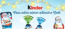 Bons de réduction Kinder à imprimer pour Noël 2017