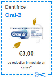 dentifrice oral b gratuit avec un bon de r duction envie de plus. Black Bedroom Furniture Sets. Home Design Ideas