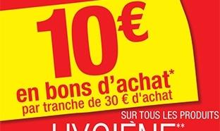 Carrefour Hygiène / Beauté : 10€ offerts tous les 30€ d'achats