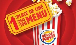 Kool King Burger King : Place de cinéma offerte