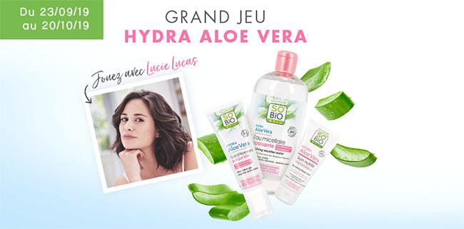 Gagnez une routine Hydra Aloe Vera de SO'BiO étic