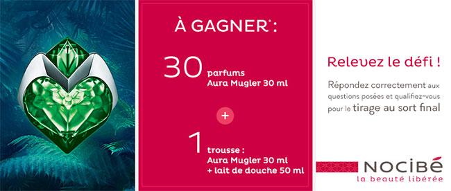 31 lots parfumés Aura Mugler à gagner