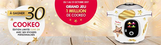 Tentez votre chance au grand jeu 1 Million de Cookeo