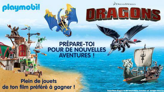 Lots Playmobil Dragon à remporter avec le jeu Gulli