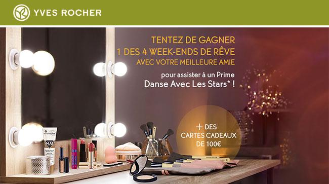 Les cadeaux à gagner au jeu DALS d'Yves Rocher