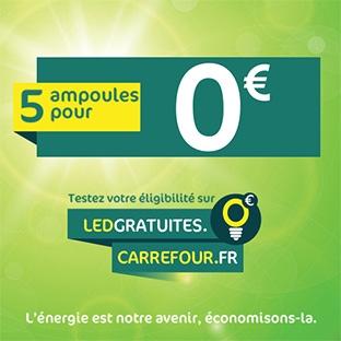 Carrefour LED gratuites : 5 ampoules offertes