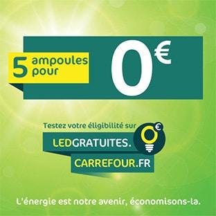 Carrefour led gratuites 5 ampoules offertes - Ampoules led gratuites gouvernement ...