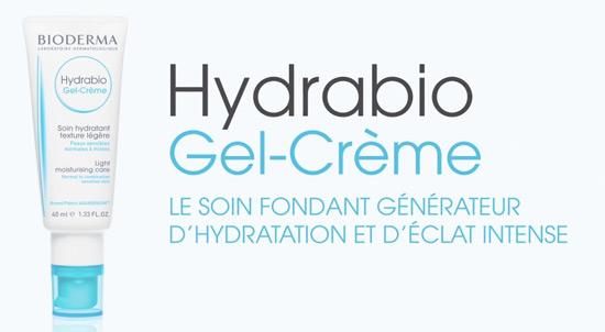 doses d'essai gratuites du gel-crème Hydrabio de Bioderma