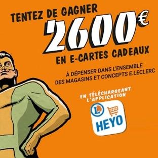 Application Heyo Leclerc : Jeu concours, bons de réduction…
