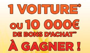 Jeu Bricorama : 1 voiture et 10'000€ de bons d'achat à gagner
