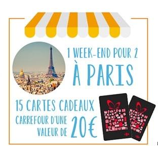 Jeu Conso Malins Carrefour : Cartes cadeaux et week-end