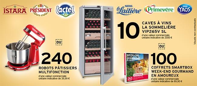 Cadeaux offerts par Lactalis et Intermarché