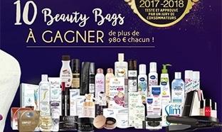 10 Beauty Bags (avec + de 980€ de produits de beauté) à gagner