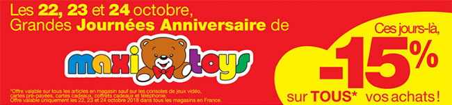 Promotions jouets Maxitoys Noël 2018