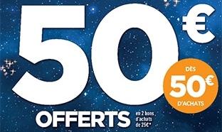 Picwic lancement Noël : 50€ offerts en bons d'achat dès 50€