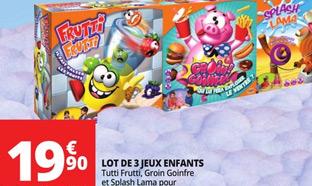 Promo Auchan : Pack de 3 jeux Goliath à seulement 19,90€
