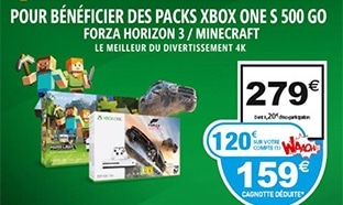 Auchan : Pack Xbox One S 500Go pas cher