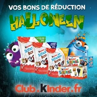 Bons de réduction Kinder à imprimer pour Halloween 2017