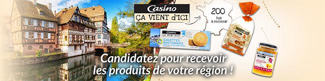 """200 coffrets """"Ca Vient d'Ici"""" de Casino à tester gratuitement"""
