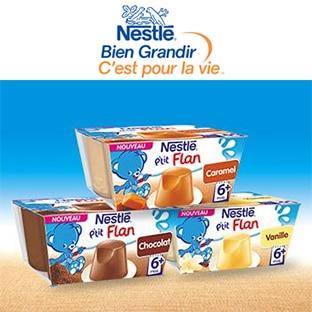 Les P'tits Testeurs Nestlé : 1500 packs de P'tit Flan gratuits
