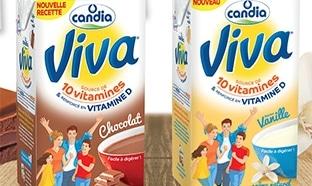 Test lait Viva Candia Chocolat et Vanille : 4000 briques gratuites