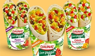 Test des wraps Daunat Veggie : 650 packs gratuits