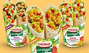 Test des wraps Daunat Veggie : 650 packs gratuits avec Sampleo