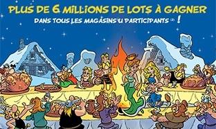 Super U : Cartes Astérix + jeu (6 millions de lots) + verres / mugs