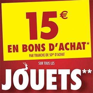 Carrefour Jouets de Noël : 15€ offerts en bon d'achat dès 50€