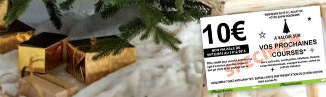 coupon Auchan de 10€ pour l'achat d'un sapin