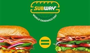 Subway : 1 sandwich SUB15 acheté = 1 SUB15 gratuit