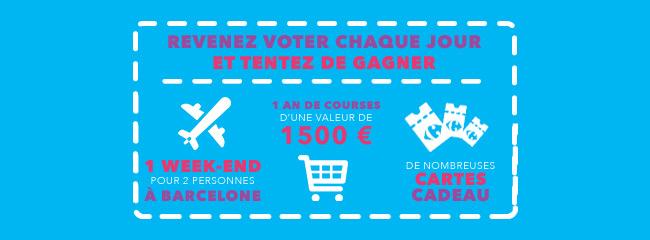 Les cadeaux à gagner au concours Top Talents de Carrefour