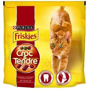 Echantillons de croquettes Friskies Croc & Tendre pour chats