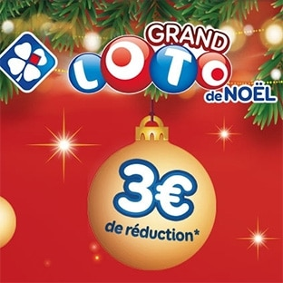 FDJ LOTO Noël : 5€ la grille mais 3€ de réduction Shopmium