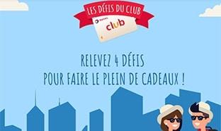 Jeu Les défis du Club Total : 6000 cartes cadeaux et 5 voyages