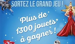 Sortez le Grand Jeu Cora : 1'342 jouets à gagner pour Noël