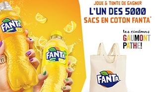 Jeu Fanta / Gaumont Pathé : 5000 sacs en coton à gagner