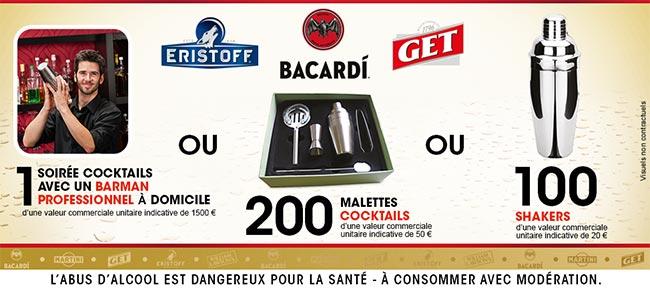 Cadeaux offerts par Bacardi / Get / Eristoff