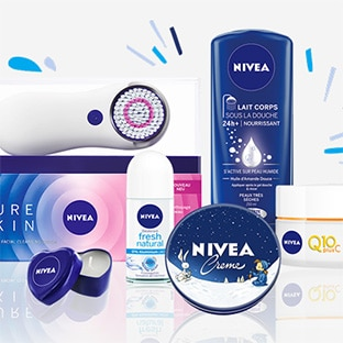 jeu de no l nivea 3 brosses pure skin et 63 kits beaut. Black Bedroom Furniture Sets. Home Design Ideas