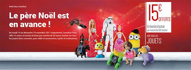 Les jouets chez Carrefour vous rapportent jusqu'à 45€ en bon d'achat