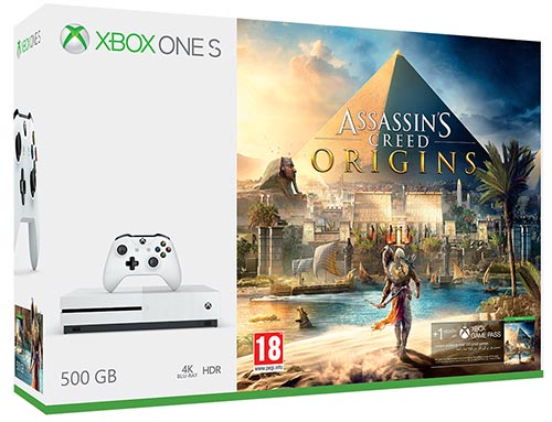Promo Pack Pack Xbox One S 500 Go Assassin's Creed Origin