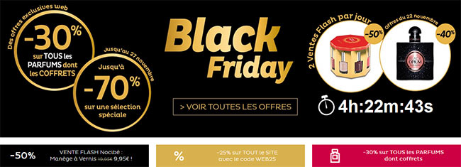 Black Friday et Cyber Monday chez Nocibé