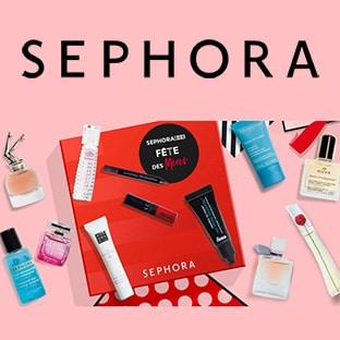 Bon plan Sephora Box : 12 mini produits offerts