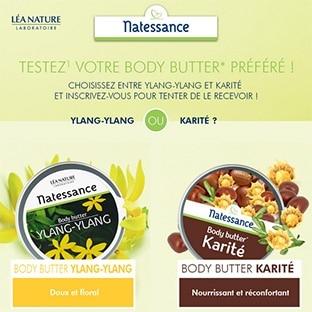 Test Léa Nature : 100 Body Butter Natessance gratuits