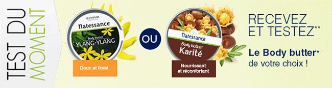 testez un beurre corporel Body Butter de Natessance