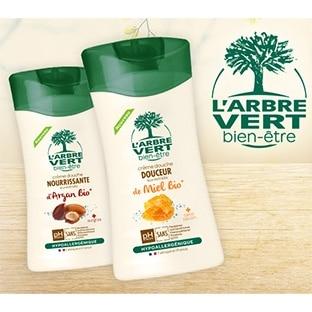 Test CVous : 240 crèmes douches L'Arbre Vert gratuites