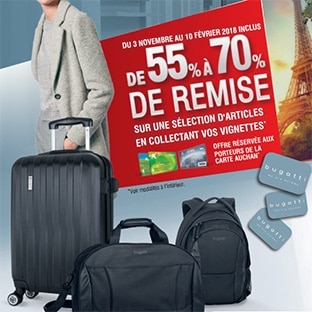 Auchan : Vignettes Bugatti pour maroquinerie jusqu'à -70%